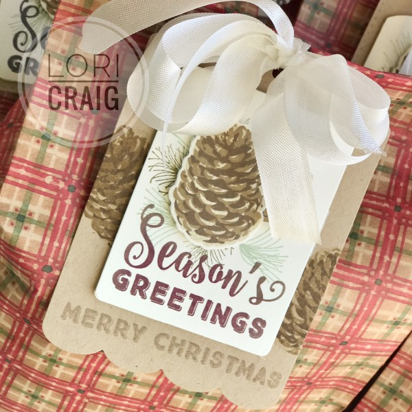 Seasons Greetings scallop tag Lori Craig