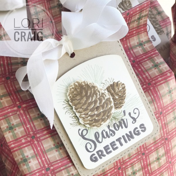 Seasons Greetings Rounded Tag Top Lori Craig